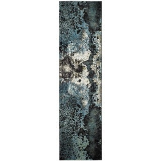 Safavieh Glacier Abstract Watercolor Blue/ Multi Area Rug Runner (2' 2 x 8')