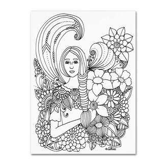 KCDoodleArt 'Flower Girls 14' Canvas Art