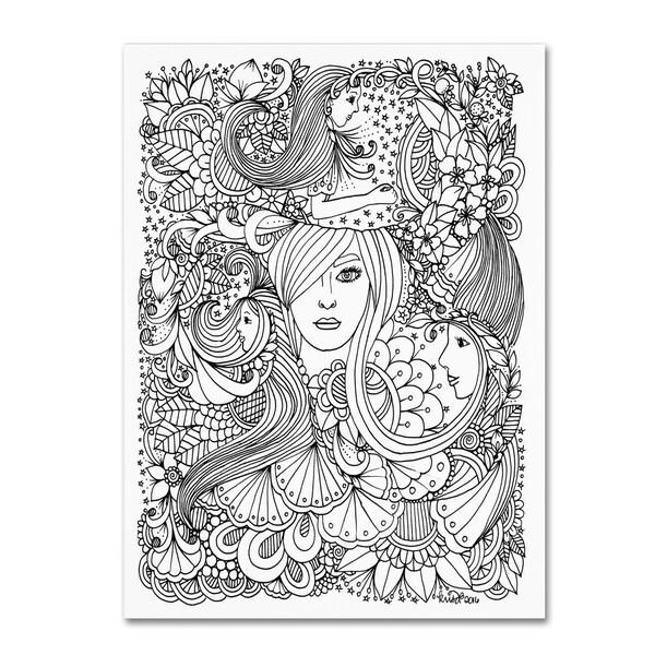 KCDoodleArt 'Flower Girls 10' Canvas Art