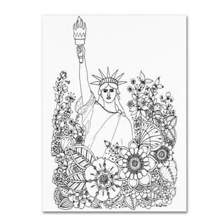 KCDoodleArt 'Flower Girls 8' Canvas Art