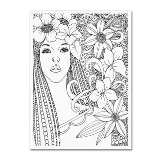 KCDoodleArt 'Flower Girls 5' Canvas Art