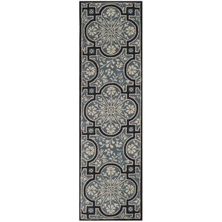 Martha Stewart by Safavieh French Painted Avignon Kerry Blue Wool Runner Rug - 2' x 8'