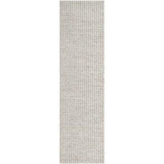 Safavieh Natura Handmade Contemporary Ivory / Silver Wool Runner (2' 3 x 8')