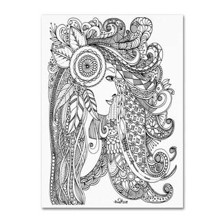 KCDoodleArt 'Flower Girls 3' Canvas Art