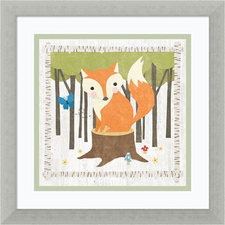 Framed Art Print 'Woodland Hideaway Fox' by Moira Hershey 13 x 13-inch