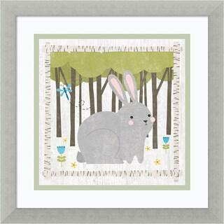 Framed Art Print 'Woodland Hideaway Bunny' by Moira Hershey 13 x 13-inch