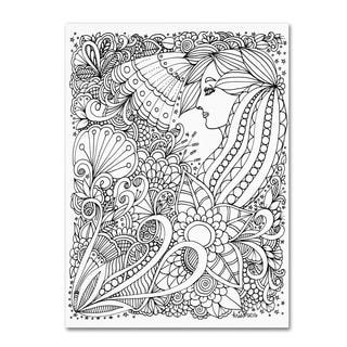 KCDoodleArt 'Flower Girls 1' Canvas Art