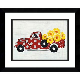 Framed Art Print 'Modern Americana Farm VI (Truck)' by Melissa Averinos 15 x 12-inch
