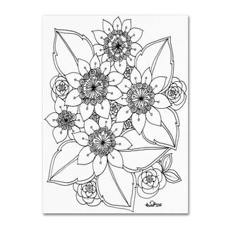 KCDoodleArt 'Flower Design 4' Canvas Art