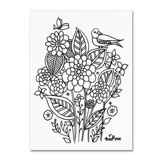 KCDoodleArt 'Flower Design 3' Canvas Art