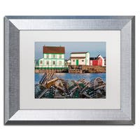 Michael Blanchette Photography 'Lobster Traps' Matted Framed Art