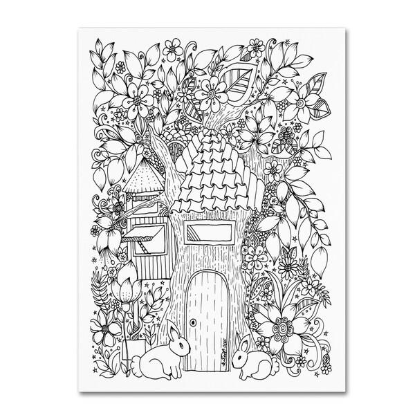 KCDoodleArt 'Tree House' Canvas Art