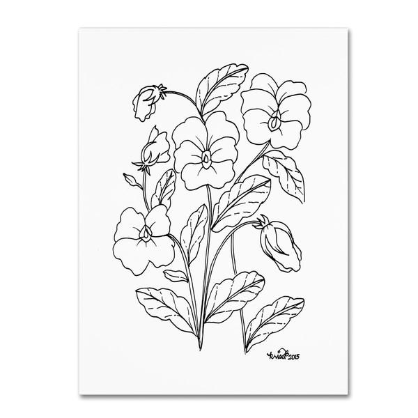 Shop KCDoodleArt  Simple Flower Doodle 3  Canvas Art - Black - Free ... 2eb51f25b