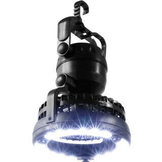 Portable 2 in 1 LED Camping Lantern with Ceiling Fan by Wakeman Outdoors