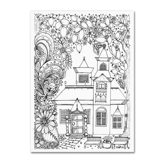 KCDoodleArt 'Japanese Inspired House' Canvas Art