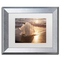 Michael Blanchette Photography 'Ice Tulip' Matted Framed Art
