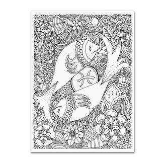 KCDoodleArt 'Fish' Canvas Art