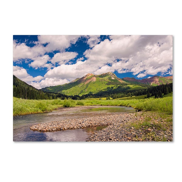 Michael Blanchette Photography 'Along Gothic River' Canvas Art - Green