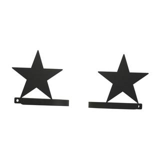 Star Black Wrought Iron Curtain Tie Backs