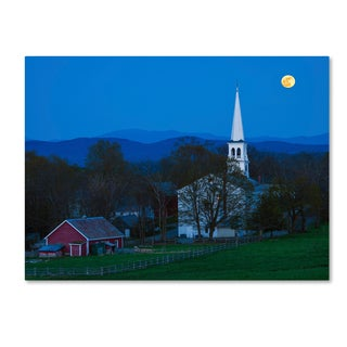 Michael Blanchette Photography 'Moonrise at Peacham' Canvas Art