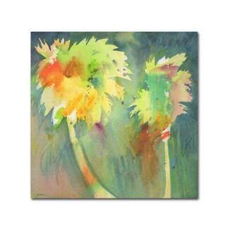 Sheila Golden 'Two Palms' Canvas Art