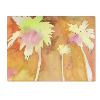 Sheila Golden 'Sunset Palms' Canvas Art