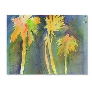 Sheila Golden 'Night Palms 3' Canvas Art
