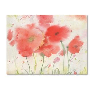 Sheila Golden 'Coral Fiesta' Canvas Art