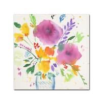 Sheila Golden 'Bright Bouquet 3' Canvas Art - White