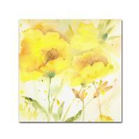 Sheila Golden 'Sunlight Blooming' Canvas Art - Yellow
