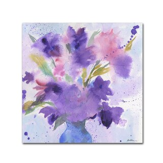 Sheila Golden 'Purple Blossoms' Canvas Art