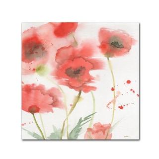 Sheila Golden 'Awakening Poppies' Canvas Art