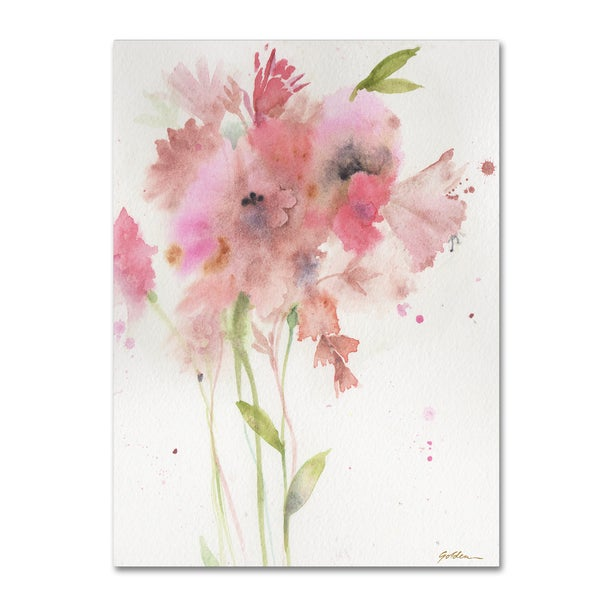Sheila Golden 'Soft Pink Bouquet' Canvas Art