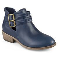 Journee Collection Women's 'Shay' Side Split Buckle Booties