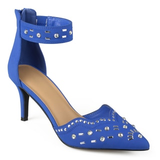 Journee Collection Women's 'Gemini' Studded Ankle Strap High Heels