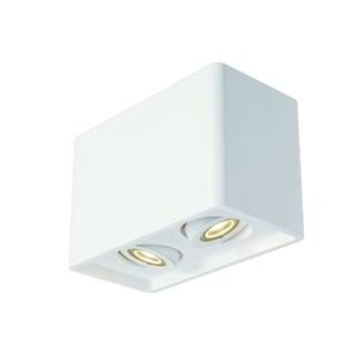 SLV Lighting Plastra 2-light White Box 2 Ceiling Lamp