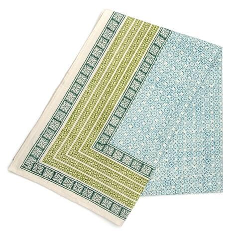 Allen Handmade Printed Cotton Tablecloth (India)
