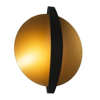 SLV Lighting Round Indi 33 LED Black/Gold Wall/Ceiling Lamp