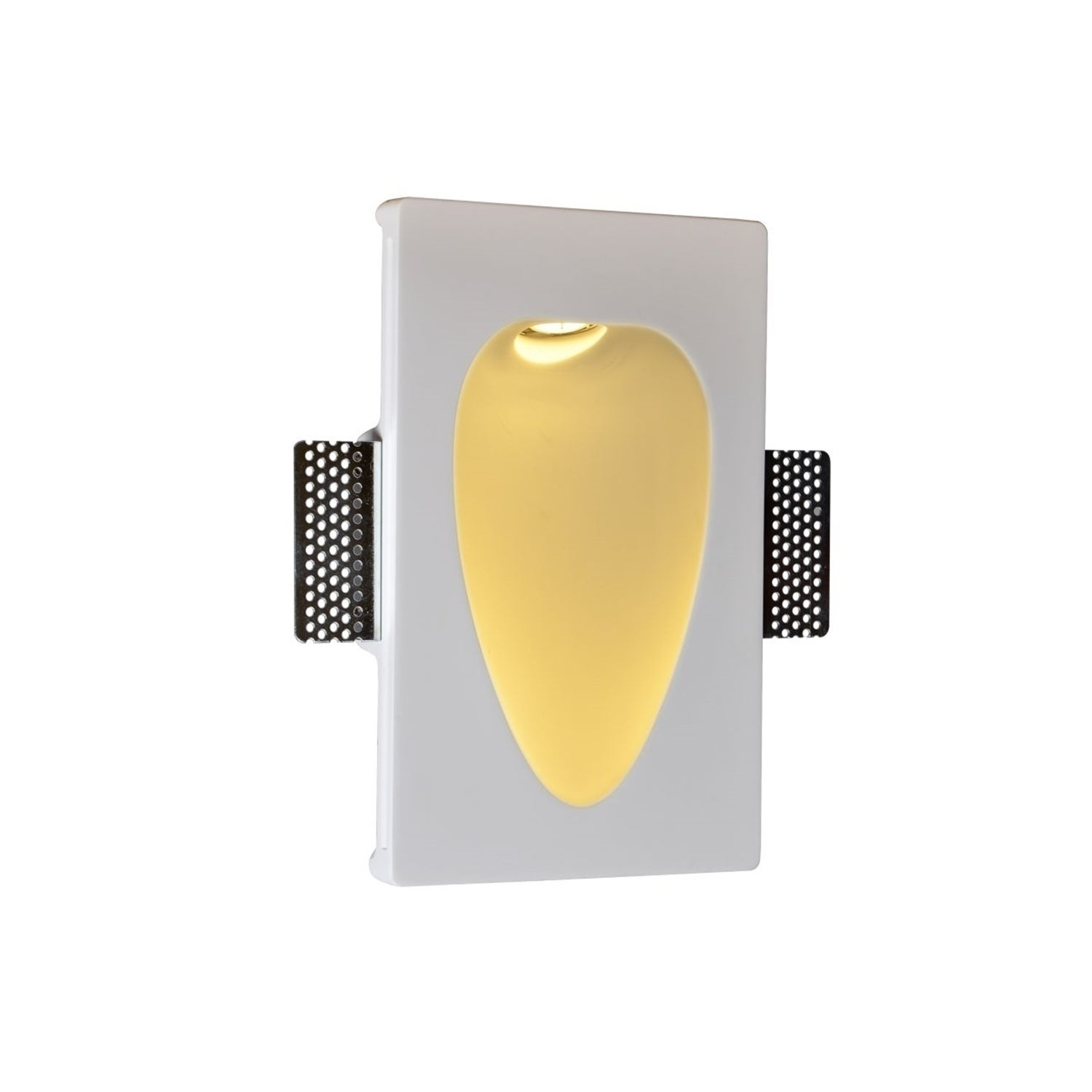 SLV Plastra Rec-Drop LED Recessed Paintable Wall Lamp (Wh...