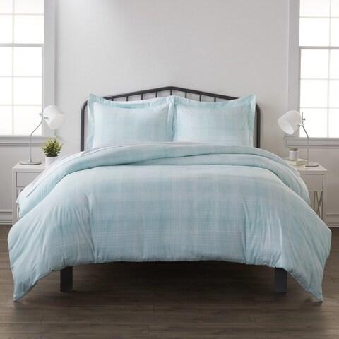 Merit Linens Premium Ultra Soft Thatch Pattern 3 Piece Duvet Set