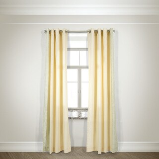 L and R Home Harlequin Ivory Grommet Top 84-inch Curtain Panel Pair