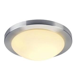 SLV Lighting Melan LED Brushed Aluminum Wall/Ceiling Lamp, Satin Glass