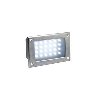 SLV Lighting Brick LED Stainless Steel Recessed Wall Lamp