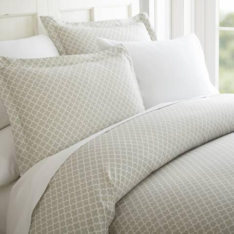 Merit Linens Quatrefoil Pattern 3 Piece Duvet Cover Set
