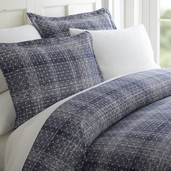 Merit Linens Premium Polka Dot Pattern 3 Piece Duvet Cover Set