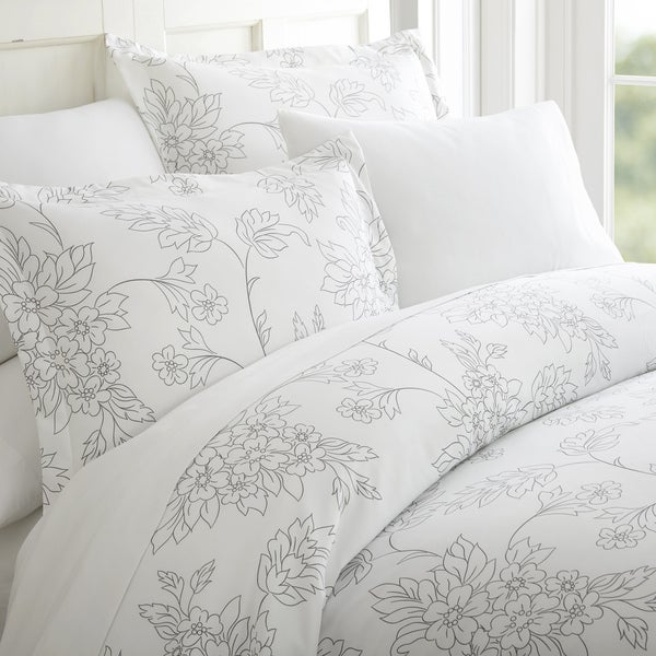 Merit Linens Premium Ultra Soft Vine Pattern 3 Piece Duvet Cover Set