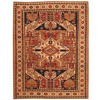 Handmade Herat Oriental Afghan Vegetable Dye Tribal Shirvan Wool Rug (Afghanistan) - 4'8 x 6'