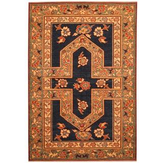 Herat Oriental Afghan Hand-knotted Vegetable Dye Tribal Shirvan Wool Rug (4' x 6')
