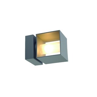 SLV Lighting Square Turn 1-light Silver Grey Wall Lamp