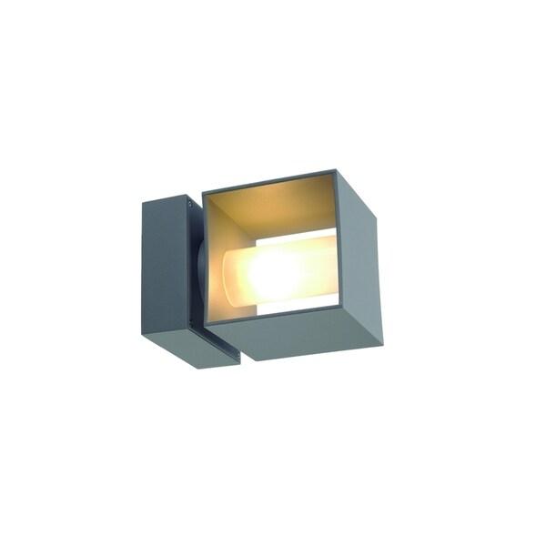 Slv Lighting Square Turn 1 Light Silver Grey Wall Lamp